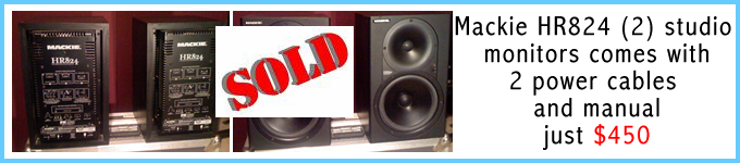 mackie hr824 studio monitors for sale